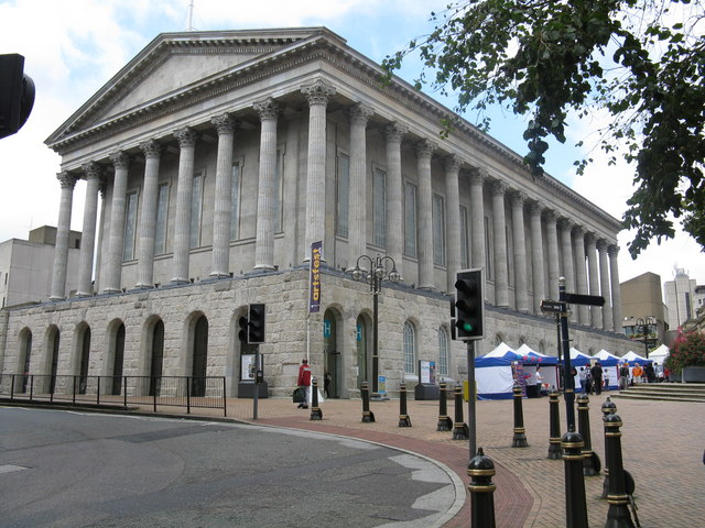 Birmingham Town Hall - Despite its form this is not a Greek Temple. Form, in all buidings, including castles, does not follow pure function.