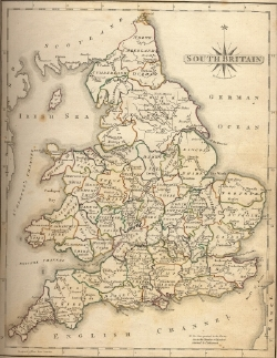 Old map of England and Wales
