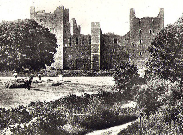 Old Postcard of Bolton Castle, North Yorkshire