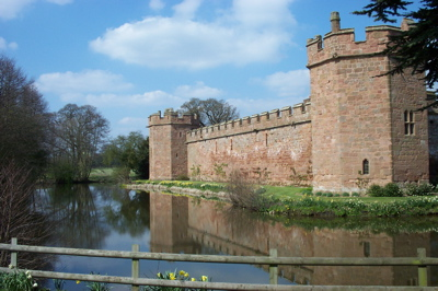 Maxstoke Castle, Warwickshire. Issued a licence to crenellate in 1345.