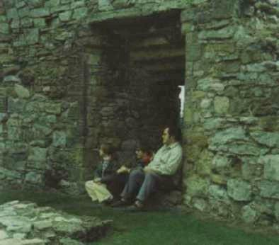 My father, my sister and I at Pickering Castle.